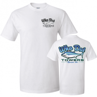 Who Dat Towers White T-Shirt