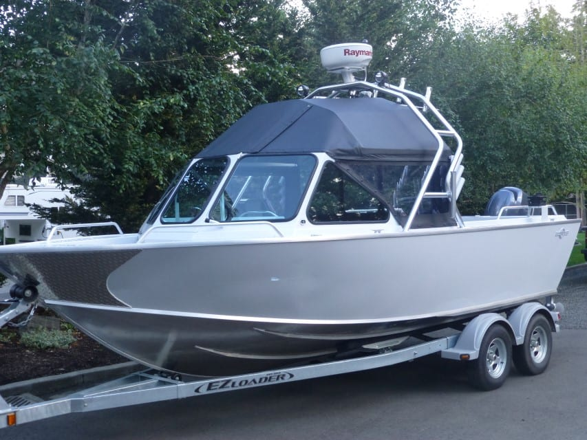 Other aluminum boats fishing towers radar arches who for Aluminum fish and ski boats